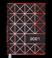 Щоденник датов. 2021 LINEA, А5, помаранчевий, фото 1