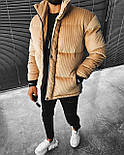 😜 Куртка - Мужскаяя куртка зима велюр (бежевая), фото 2
