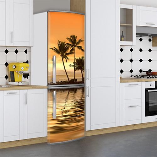 Наклейка на холодильник реставрация старого холодильника Самоклейка, 180 х 60 см, Лицевая (holSS1_mp12449 Море)