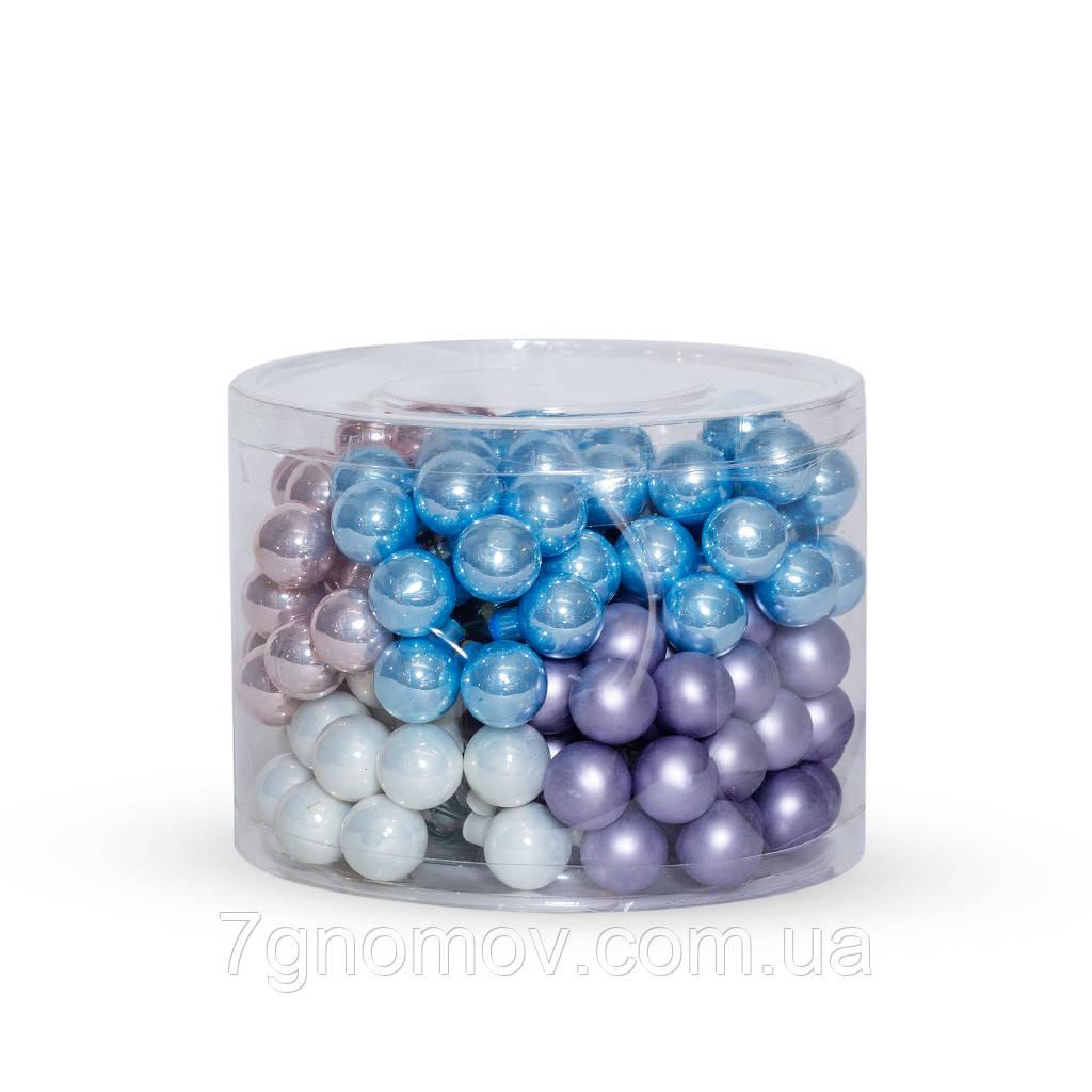 Набор стеклянных елочных шаров Гроздь 12 шт