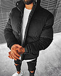 😜 Куртка - Мужскаяя куртка зима велюр (черная), фото 2