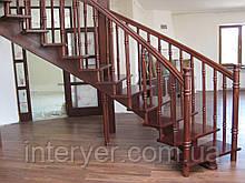 Ограждения лестницы из дерева стекла металла
