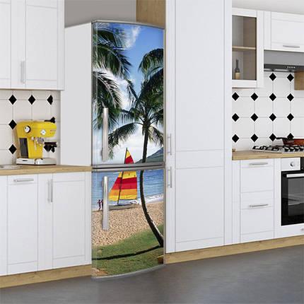 Виниловая наклейка на холодильник, Наклейки холодильник, Самоклейка, 180 х 60 см, Лицевая (holSS1_mp11662 Море), фото 2
