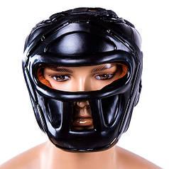 Шолом для боксу чорний з пластикової маскою Everlast, розмір L