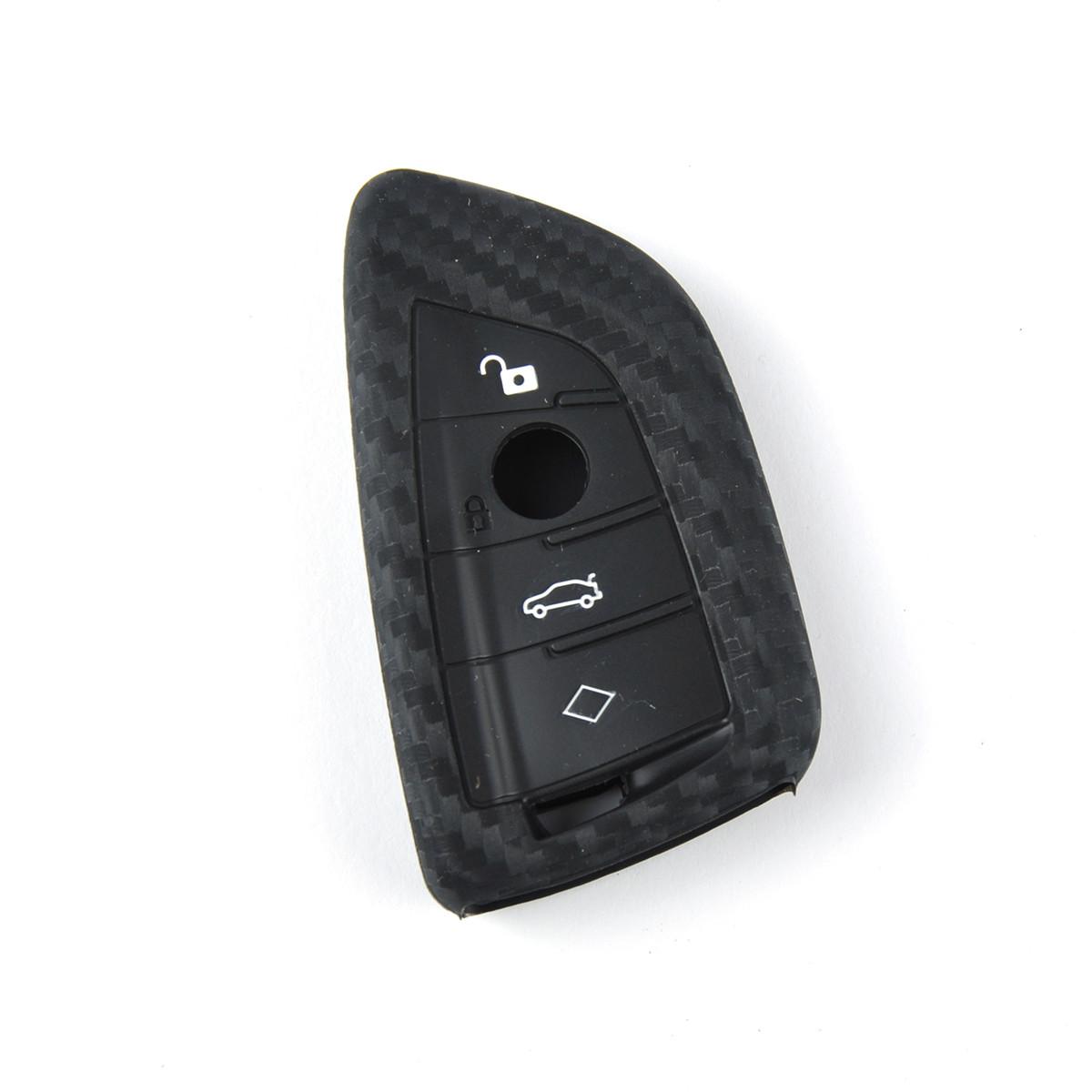 Чехол на брелок сигнализации силиконовый BMW X5 CARBON