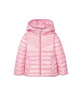 Куртка весенняя розовая в белый горошек р.86, 92, 98, 104, 110