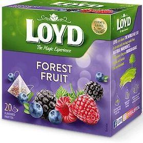 Чай фруктовий LOYD FOREST FRUITS з лісовими ягодами, 40г (20 пірамідок), 10шт/ящ 3103571