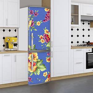 Наклейки на холодильник виниловая, цветы на гобелене, 180х60 см - Лицевая(В), с ламинацией