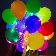 Набор 5 штук светящиеся надувные шары со светодиодом 1454