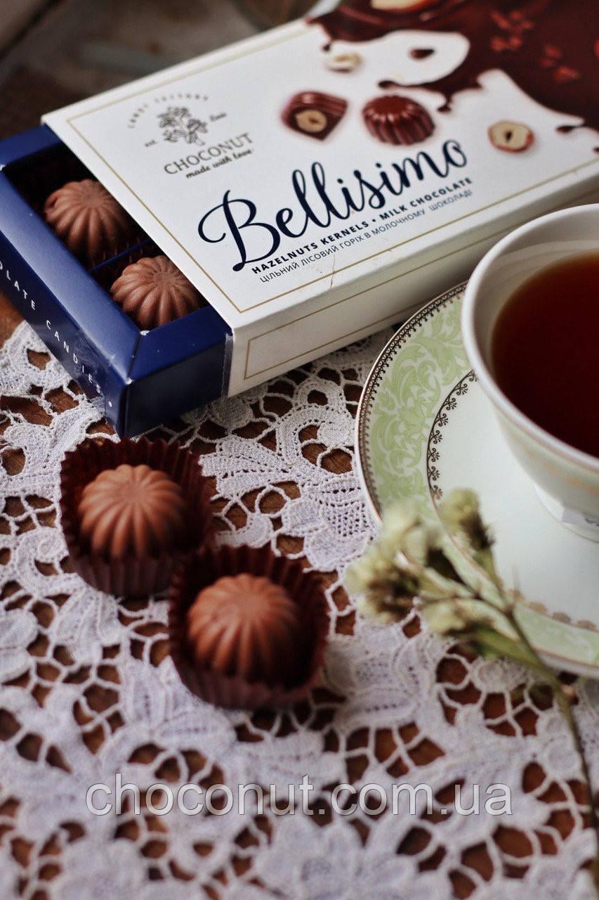 Цукерки BELLISIMO фундук в молочному шоколаді