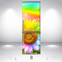 Виниловая наклейка на холодильник, Как декорировать старый холодильник, Самоклейка, 180 х 60 см, Лицевая (holSS1_fl11280 Цветы), фото 2