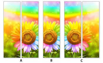Виниловая наклейка на холодильник, Как декорировать старый холодильник, Самоклейка, 180 х 60 см, Лицевая (holSS1_fl11280 Цветы), фото 3