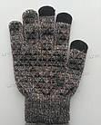 Перчатки iWinter Wool Plus для сенсорных экранов теплые женские Коричневый / Белый (D-Z01) [1887], фото 4