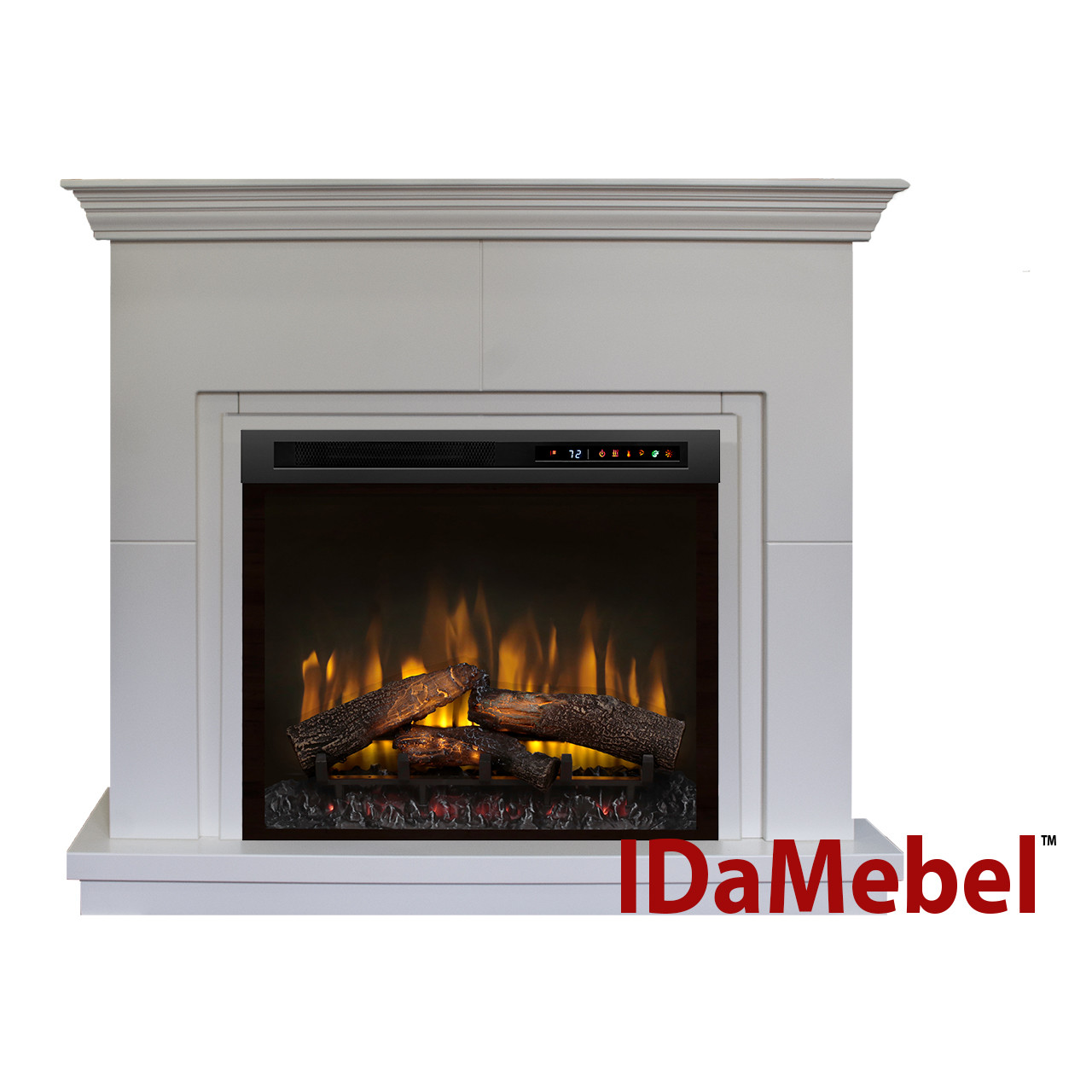 Каминокомплект IDaMebel Montreal XHD28L-INT Белый