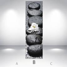 Виниловая наклейка на холодильник, ряд камней с цветком, 180х60 см - Лицевая(В), с ламинацией, фото 3