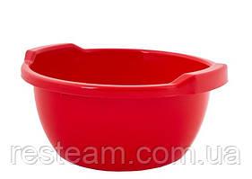Таз пластм. 44 л круглый красный