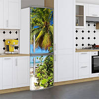 Виниловая наклейка на холодильник, Винил на холодильник, Самоклейка, 180 х 60 см, Лицевая (holSS1_mp11912 Море)