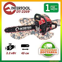 Бензопила цепная Intertool DT-2209 2.2 кВт., шина 45 см., Мотопила Интертул Цепная пила