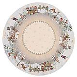 """Серветка під тарілку """"Полярний експрес"""", Ø10, гобелен, фото 9"""