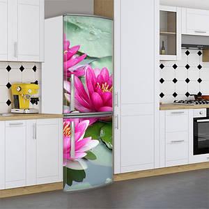 Наклейка на холодильник, кувшинки, 180х60 см - Лицевая(В), с ламинацией