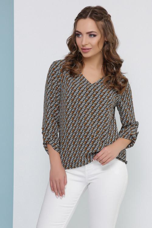 Отличная блуза из софта, свободного кроя горчичная