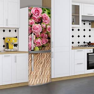 Наклейки на холодильник, цветы розы, 180х60 см - Лицевая(В), с ламинацией
