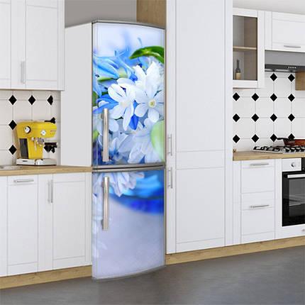 Виниловая наклейка на холодильник, Декор холодильника своими руками фото, Самоклейка, 180 х 60 см, Лицевая (holSS1_fl10694 Цветы), фото 2