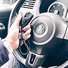 Брелок Citroen для автомобильных ключей Эко кожа косичка, фото 5