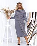 Супер модное, молодежное платье макси свободного кроя, разные цвета р.48-50.52-54.56-58 Код Дения, фото 3
