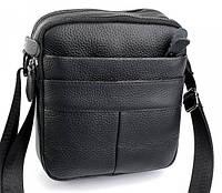 Мужская кожаная сумка 1821 Black. Мужские сумки оптом и в розницу недорого в Украине., фото 1