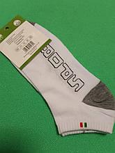 Носки короткие мужские белые - 41-47 размер, 80% хлопок, 15% полиамид, 5% бамбук