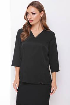 Стильная блуза приталенного силуэта черная 42 р