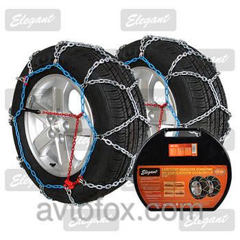 Цепь противоскольжения 12мм КN100  (2шт) (Газель,Спринтер)  ELEGANT EL 100 616 (R14-R18)