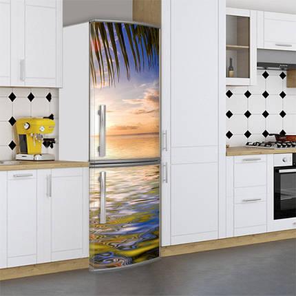 Виниловая наклейка на холодильник, Оклейка холодильника виниловой пленкой, Самоклейка, 180 х 60 см, Лицевая (holSS1_mp12512 Море), фото 2