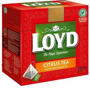 Чай чорний LOYD Citrus з цитрусовим смаком, 34г (20пак.), 20шт/уп 3102218