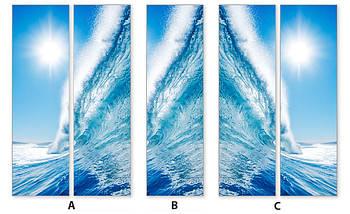 Виниловая наклейка на холодильник, Как изменить цвет холодильника, Самоклейка, 180 х 60 см, Лицевая (holSS1_mp11590 Море), фото 3
