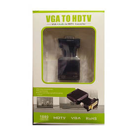 Адаптер VGA HDMI с аудиовыходом 13518 (Black)   Переходник vga hdmi