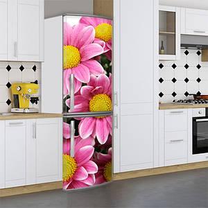 Наклейки на холодильник, цветы ромашки, 180х60 см - Лицевая(В), с ламинацией