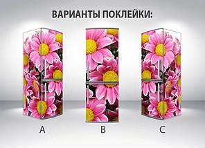 Виниловая наклейка на холодильник пленка для холодильника, Самоклейка, 180 х 60 см, Лицевая (holSS1_fl101591 Цветы), фото 2
