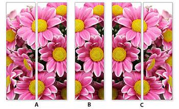 Виниловая наклейка на холодильник пленка для холодильника, Самоклейка, 180 х 60 см, Лицевая (holSS1_fl101591 Цветы), фото 3