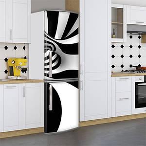 Наклейки для холодильника, 3д абстракція, 180х60 см - Лицьова (В), з ламінуванням