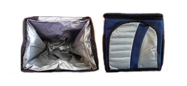 Сумка Холодильник - Термосумка 12л 2 отдела, Нейлон Cooling Bag 377-C (17х25х26)