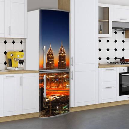 Виниловая наклейка на холодильник, Украшаем холодильник, Самоклейка, 180 х 60 см, Лицевая (holSS1_cn00345 Город), фото 2