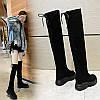 Довгі жіночі чоботи осінь і зима вище коліна на високому каблуці з маленьким перцем і в тому ж стилі плюс оксамитові високі внутрішні збільшують