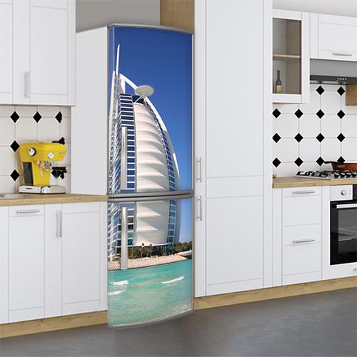 Виниловая наклейка на холодильник, Картинки холодильника, Самоклейка, 180 х 60 см, Лицевая (holSS1_ar11979 Архит.)