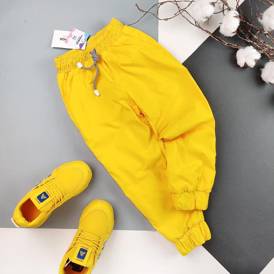 Детские теплые штаны  с плащевки на флисе (6шт) на мальчика на девочку оптом , 86-116