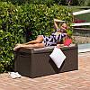 Сундук пластиковый Santorini Plus 550 л антрацит с подушкой Toomax, фото 2