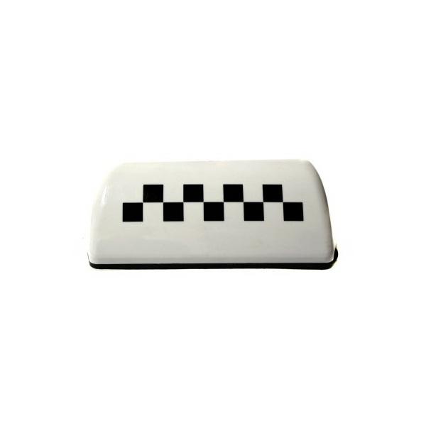 Фишка такси на магните белая
