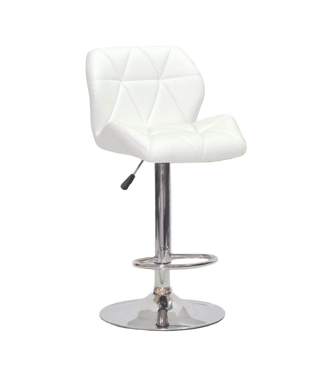 Барный стул SET Сэт белая экокожа, стул визажиста