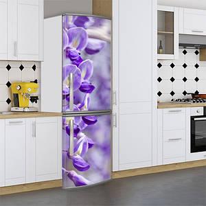 Виниловая наклейка на холодильник, цветы, 180х60 см - Лицевая(В), с ламинацией